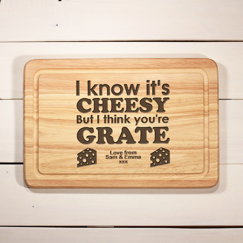 Unique personalised chopping board for then home