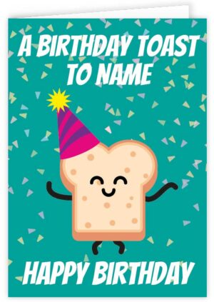 A Birthday Toast To You Personalised Card