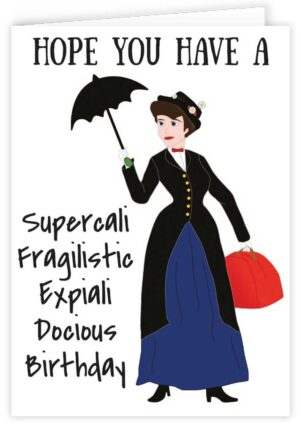 Mary Poppins Fan Art Personalised Card