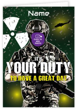 Call of Duty Personalised Card